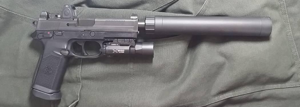 FN FNX 45 with AAC Tirant 45