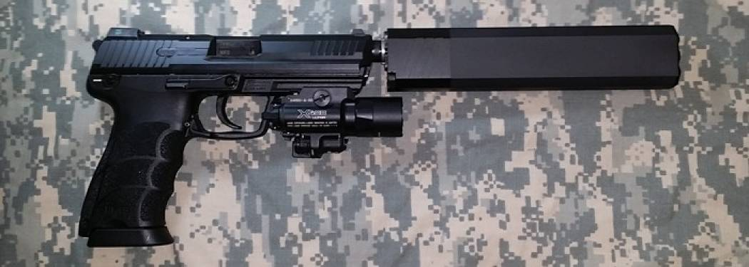 HK 45 Tactical with Silencerco Osprey