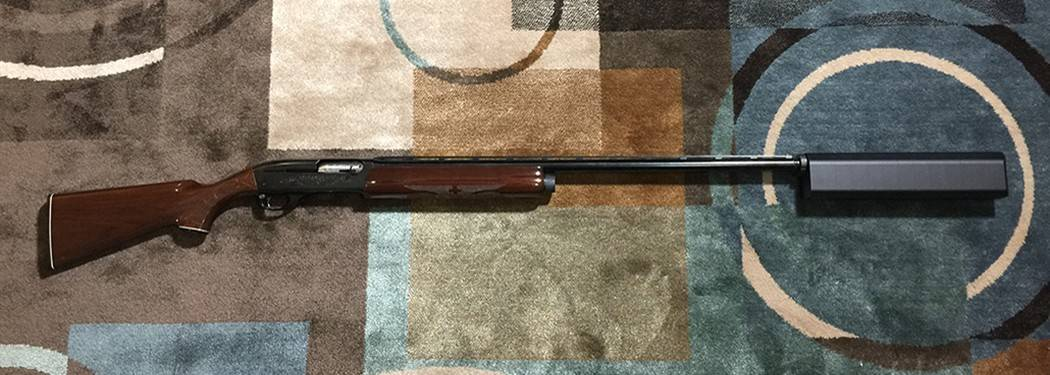 Remington 1100 with Silencerco Salvo 12