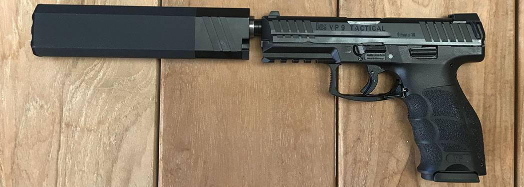 HK VP 9 Tactical with Silencerco Osprey